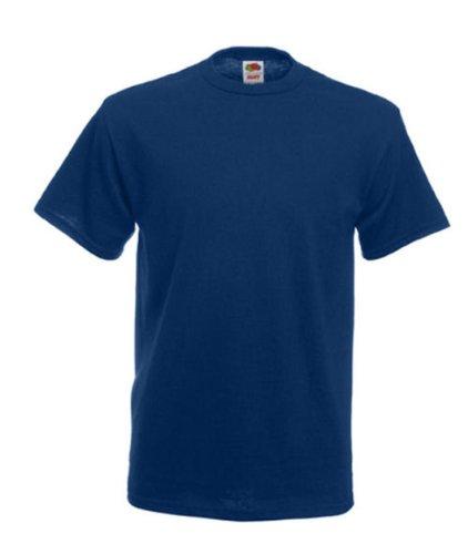 Fruit of the Loom Herren T-Shirt, uni, schwere Baumwollqualität Navy