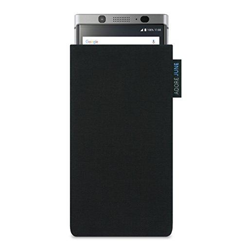 BlackBerry KEYone Hülle, Adore June Tasche [Serie Classic] original Cordura in schwarz. Handytasche aus widerstandsfähigem Textil-Stoff [Display-Reinigungseffekt] BlackBerry KEY One case sleeve