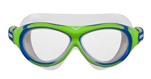arena Kinder Unisex Schwimmmaske Brille Oblò Junior (Verstellbar, UV-Schutz, Anti-Fog Beschichtung), grün (Green-Clear), One Size