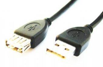 Gembird CCP-USB2-AMAF-10 - Cable alargador USB 2.0, 3m, color negro