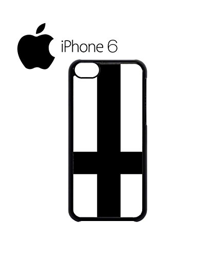 Inverted Plain Cross Swag Mobile Phone Case Back Cover Hülle Weiß Schwarz for iPhone 6 White Schwarz