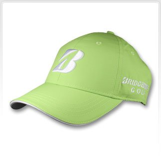 NEW BRIDGESTONE GOLF PEARL NYLON PERFORMANCE CAP. LIME GREEN (Bridgestone Cap)