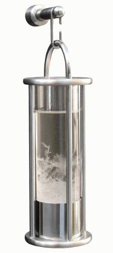 Design Sturmglas von Peters S.Jessen aus Edelstahl matt gebürstet mit Wandhalterung
