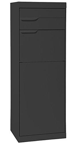 MEFA Paketpostkasten Etna (772) Entnahme Hinten Anthrazitgrau RAL 7016 Standbriefkasten Briefe+Pakete