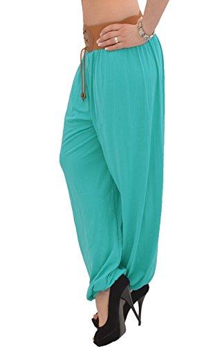 Pantalon Sarouel pour Femme Pantalon Pump Femme Pantalons Harem pour Dames Pantalon de Yoga S02 Menthe