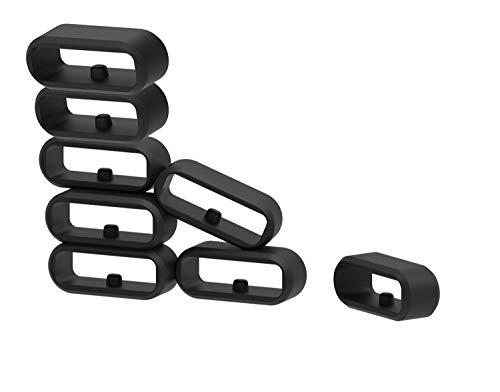 Ruentech für Garmin Vivomove/Vivomove HR/Vivoactive 3 / Forerunner 645 / Forerunner 645 Music Armband Silikon Verschluss Ring Loop Hoop Clasp Zubehör