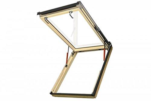 FAKRO - Notausstiegsfenster FEP L3, FEU L3 - Eindeckrahmen flach (Holz, 114x140)