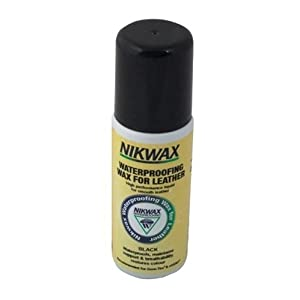 31mQpzlr5OL. SS300  - Nikwax - Waterproofing Wax for Leather Black x 125 Ml Liquid