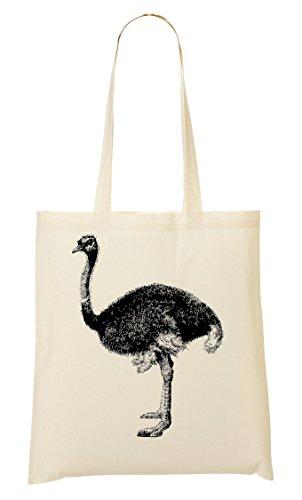 ShutUp Ostrich Graphic Tragetasche Einkaufstasche -