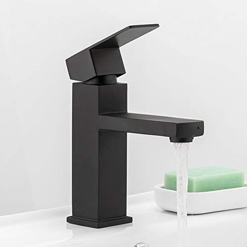 ZHUAPP Square Black Bad Wasserhahn Edelstahl Waschtischarmatur Bad-Accessoires Armatur Waschbecken Waschtischarmatur