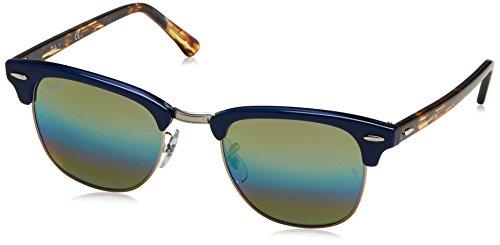 Ray-Ban Herren Sonnenbrille Schwarz Gold, Blau (Blue), 49 - Herren Ray Gold Sonnenbrille Ban