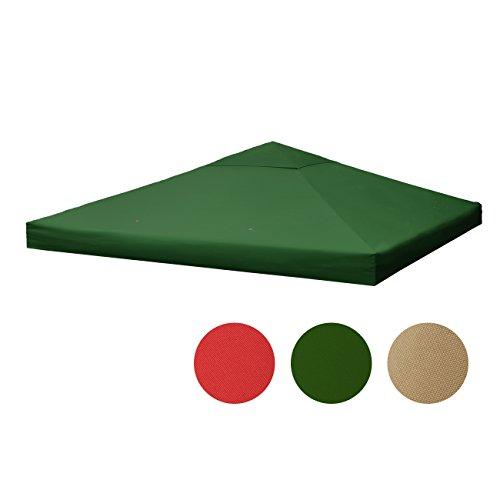 Sekey Ersatzdach für Metall Pavillon / Faltpavillon /Festival-Zelt/ Gartenmöbel/Gartenpavillon , Grün,wasserdichte Beschichtung, mit Entlüfter,3 x 3 m