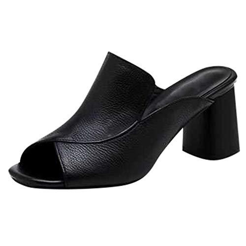 Frauen Open-Toe High Heel Hausschuhe weibliche große Hausschuhe, Bluestercool Outdoor Kleid Sandalen Fisch Motte Casual Hausschuhe