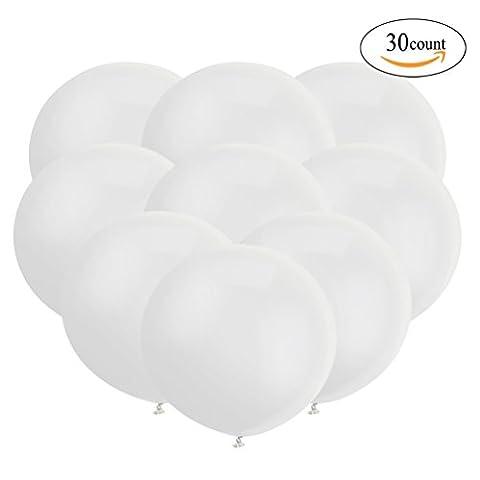 18 Zoll Großer Runder Ballon Latex Riesiger Luftballone Jumbo Dicke Ballone für Foto-Aufnahmen / Geburtstag / Hochzeitsfest / Festival / Event / Karnevals-Dekorationen 30ct / pack