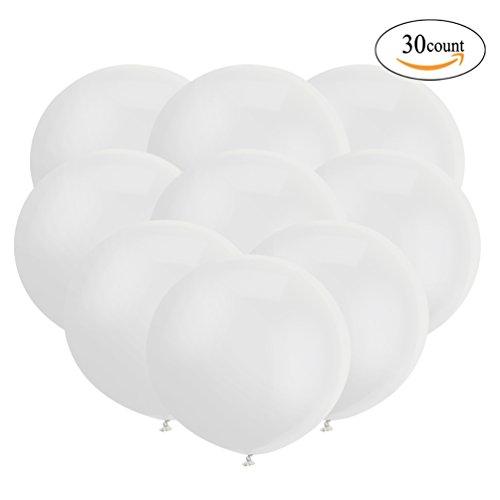 18 Zoll Großer Runder Ballon Latex Riesiger Luftballone Jumbo Dicke Ballone für Foto-Aufnahmen / Geburtstag / Hochzeitsfest / Festival / Event / Karnevals-Dekorationen 30ct / pack (Für Dekoration Das Halloween Jahr 2017)