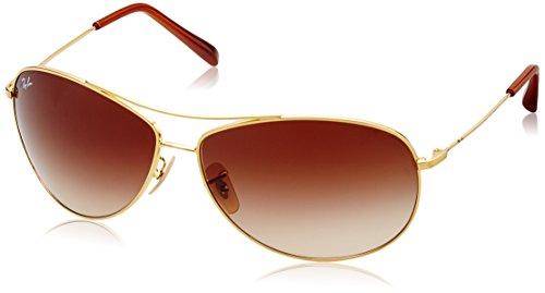 Ray Ban Herren Sonnenbrille ORB3445E Gold (Arista 001/13), 65 (Herstellergröße: 65)
