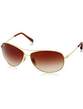 Annayake Z-PO-02-17 Gafas de sol, Unisex, Aviador con montura, Arista Frame/Brown Gradient Lens