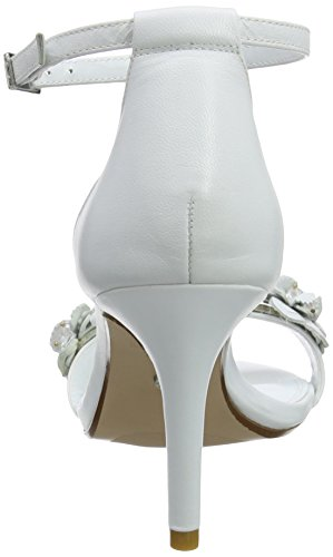 Dune Damen Magnolea Ankle Strap Heels Weiß (White)
