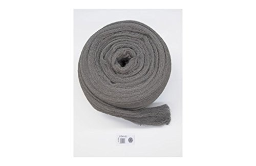 Akron, Glatte Stahlwolle, Nr. 00, mittlere Rolle, 2,5 kg, zur Wartung, Abbeizen von waagrechten Oberflächen, Polieren von Holz und Metall