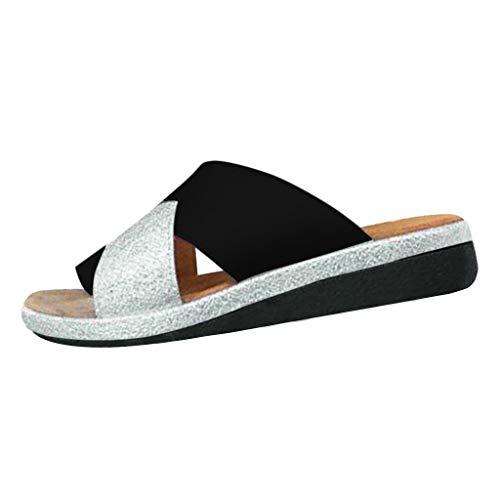 Darringls sandali donna estate bassi moda sandali 2019 estati nuove scarpe comode da donna casual madrid big buckle sandali in suede sandali per donna