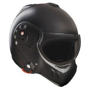 Preisvergleich Produktbild Roof Boxer V8 Full Black Flip Front Motorcycle Helmet M Matt Black