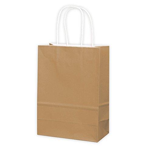 eschenktüten Papiertüten mit Griffen, insgesamt 3 Farben für Ihre Wahl (Braun) (Halloween-papier-geschenk-taschen)