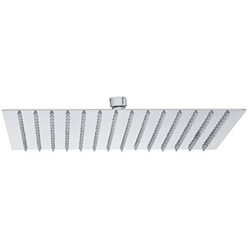 AmazonBasics - Regen-Duschkopf aus Edelstahl, 30,5 cm - poliertes Chrom