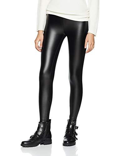 U-chen Damen PU Skinny Leggings Hüfthose Schwarz XL