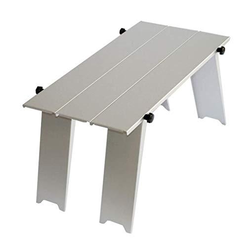 Esstisch Partytisch -GR Outdoor Tragbare Klapptisch Metall Klapptisch Tragbare Mini Picknick Kleine Tabelle Laptop Tisch 44 * 29 * 15 cm, Silber Gartentisch Buffettisch (8 Ft Kunststoff-tabelle)