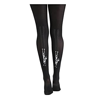 Pamela Mann Flocked Tights - Climbing Cats