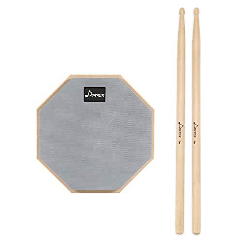 Donner 8 inch Drum Practice Pads Pads de Práctica Almohadilla con Baquetas