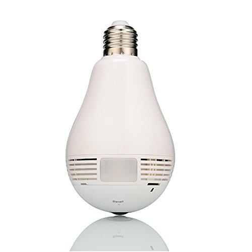 leftek 360Degree Panoramic 960P Hidden WiFi Camera Light Bulb Mini IP Camera Indoor Home Security Camera Remote Control CCTV Camera