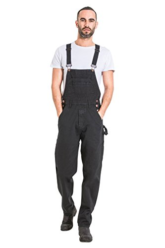 ff70c14a7d28 Uskees Mens Relaxed Fit Denim Dungarees - Black Value Bib Overalls Low Cost  Dungarees MENSVALUEBLACK-