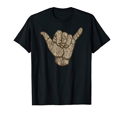 Anvil Camouflage (Desert Camouflage Hawaii Shaka Sign Shirt Art-Retro Shaka T-Shirt)
