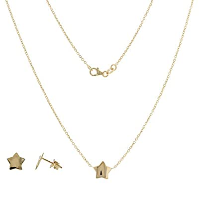 Parure en or jaune étoile 14 carats - Gioiello Italiano