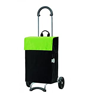Andersen Shopping trolley Scala with bag Hera green, Volume 44L, steel frame