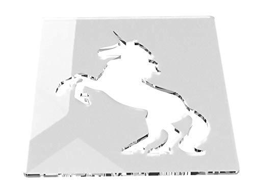 Einhorn Kunst und Handwerk Schablone, mittelgroß, 120 mm, geeignet für Heimdekoration,...