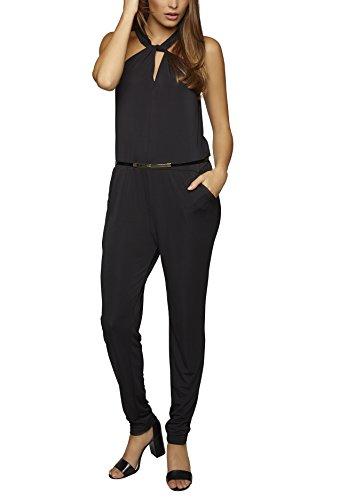 APART Fashion 66653, Combinaison Femme Noir (schwarz)