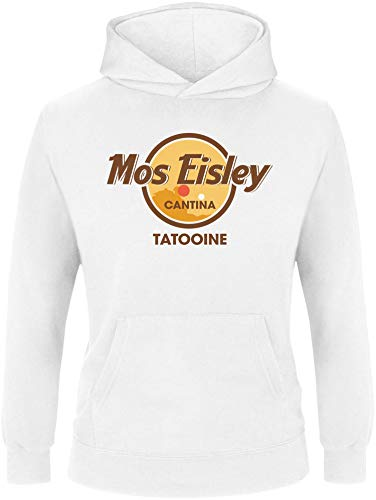 AngryShirts Mos Eisley Cantina Pullover Kinder | Mädchen Kapuzenpullover | Hoodie