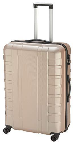 Pure Koffer Hugo Hartschalen-Trolley Reisekoffer Mittlere Größe, 4 Doppelrollen, 69 cm, 69 l, roségold (M)
