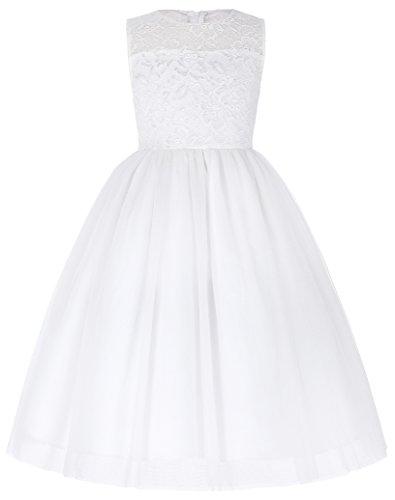 Weich A-Linie Prinzessin Maedchen Kleid Partykleid 9-10 Jahre