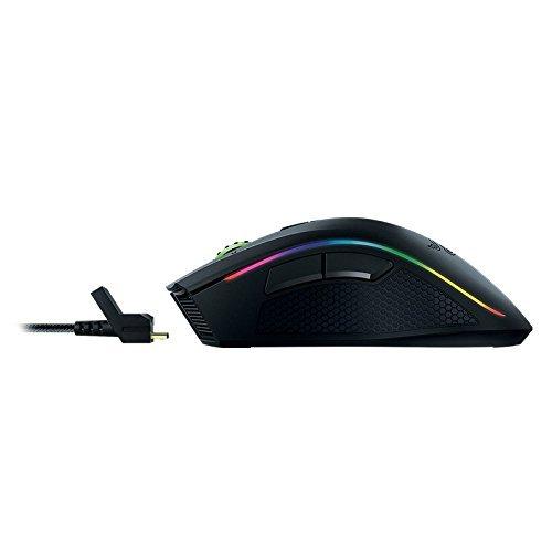 Razer Mamba Wireless Edition RGB Beleuchtete Ergonomische Gaming Maus (Präziser 16.000 dpi Sensor mit 9 programmierbaren Tasten) - 9