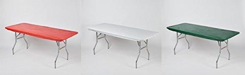 kwik-covers Spannbettlaken Kunststoff, rechteckige Tisch umfasst, Bundle Of 3 (8 Ft Kunststoff-tabelle)