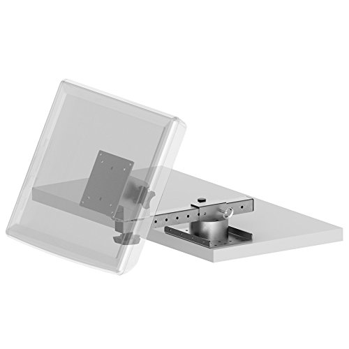 Adjustable Panning Mounting Biased compatible - Shelf Edge Mount with an Adjustable Arm, a Panning Mounting Plate and a Biased 75/100mm VESA compatible Pan and Tilt Head PQS PN 80103