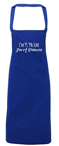 hippowarehouse I 'm 99.9% Sure I 'm a Princess Schürze Küche Kochen Malerei DIY Einheitsgröße Erwachsene, königsblau, (Diy Erwachsene Märchen Für Kostüme)