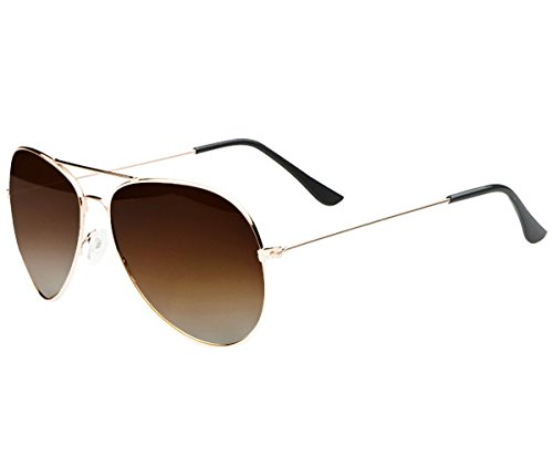 Minetom Donne Gun Style Pilotenbrille Aviator UV400 Fliegerbrille Spiegelbrille Sonnenbrille Brille...