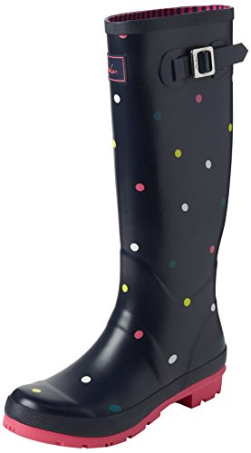 Joules Women's Wellyprint Wellington Boots, Blue (Multi Spot), 7 UK 40/41 EU