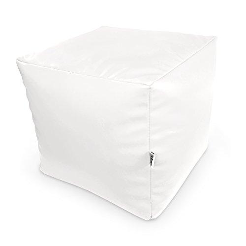 Natalia Spzoo Sitzwürfel aus Kunstleder zum sitzen spielen usw. super leicht (Weiß)