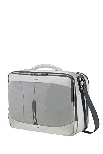 Imagen de samsonite 4mation 3 way shoulder bag exp  tipo casual, 36.5 litros, color plateado/rojo