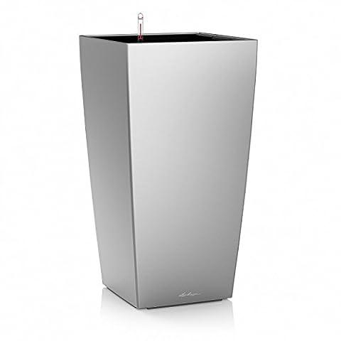 Lechuza Premium Cubico Pot d'arrosage Blanc brillant 30cm à 56cm de haut à fleurs